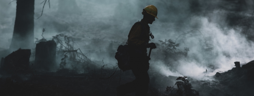 O'NEALS, Calif. (Sept. 26, 2020) A U.S. Marine assigned to the 7th Engineer Support Battalion, 1st Marine Logistics Group, conducts wildland firefighting operations with National Interagency Fire Center personnel near the Sierra National Forest in California, Sept. 26, 2020. Approximately 250 Marines from 7th ESB are going to help fight the Creek Fire in Central California. Through U.S. Army North, U.S. Northern Command remains committed to providing flexible Department of Defense support to the National Interagency Fire Center to respond quickly and effectively to protect people, property, and lands. (U.S. Marine Corps photo by Warrant Officer Eric LaClair)