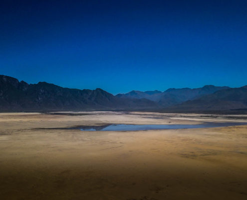 In February 2018, the water at the Theewaterskloof was nearly 2km from the previous high point. Photo by from Flickr.